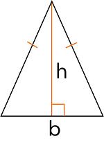 Расчёт площади равнобедренного треугольника через основание и высоту
